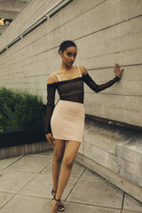 Black High-Waist Mini Skirt by One Boutique
