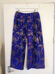 Blue Cropped Culottes