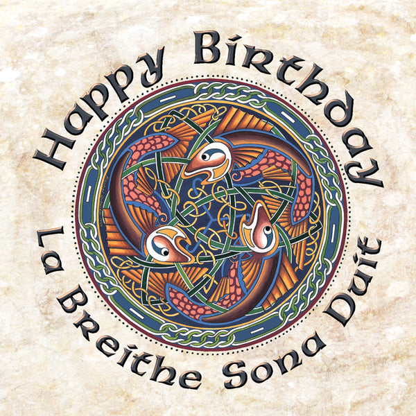 C202 Birthday Celtic Fish Card