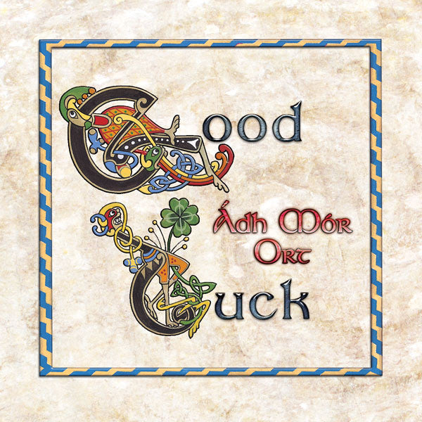 C213 Celtic Good Luck Card