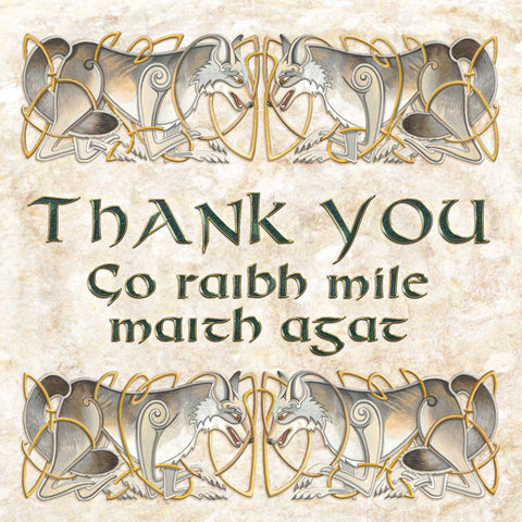 C229 Two Wolves Thank You Card