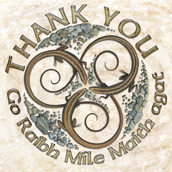 C232 Celtic Lizard Thank You Card