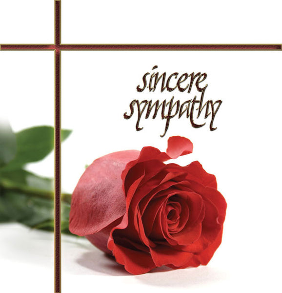 C237 Red Rose Sympathy Card