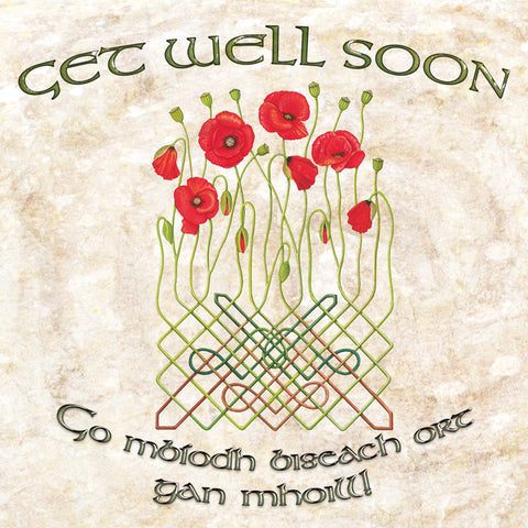 C240 Celtic Poppy Get Well Card