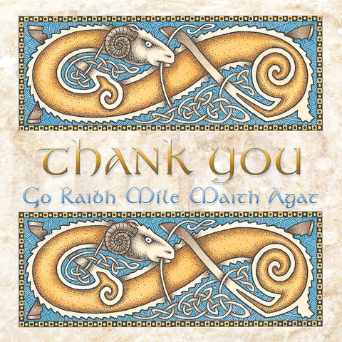 C304 Celtic ram Thank You Card