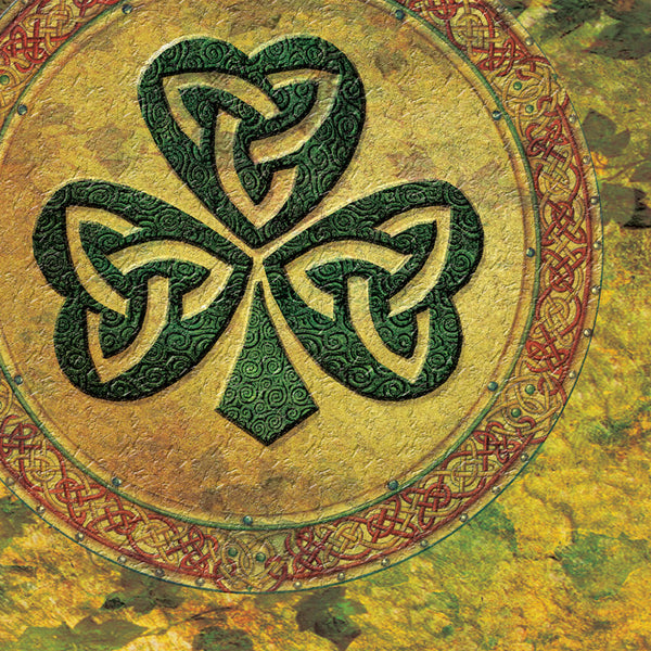 C508 Celtic Shamrock Blank Card