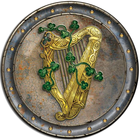 CDC26 - Gold Harp - 4 Pack Irish Drink Coaster