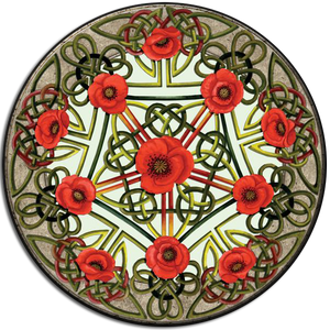 Celtic Poppies Coaster (Single)