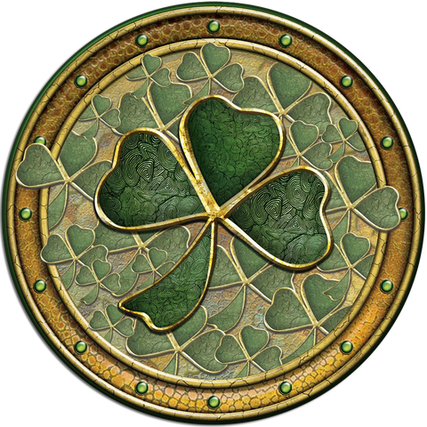 CDC39 - Golden Shamrock - 4 Pack Irish Drink Coaster