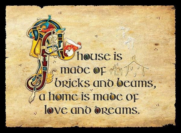 "CFM06 - ""A House is Made..."" Fridge Magnet"