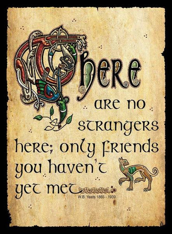 "CFM08 - ""There are no Strangers here...."" Fridge Magnet"