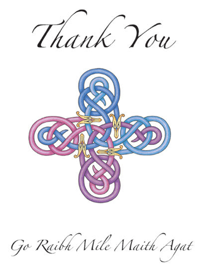 CNC11 Celtic Cross thank You Notecards