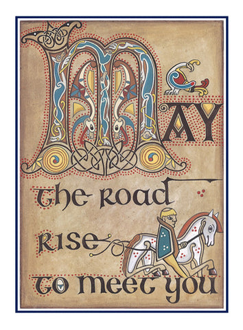 CNC15 May the Road Rise Notecards