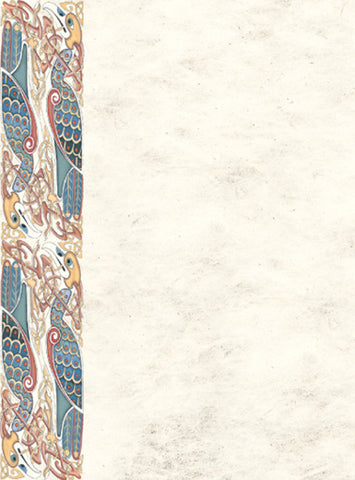 CNP05 Celtic Heron Notepaper