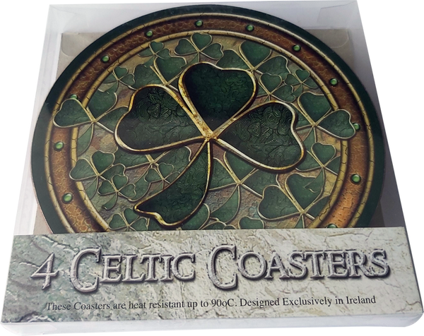 CDC02 - Round Fish - 4 Pack Irish Drink Coaster