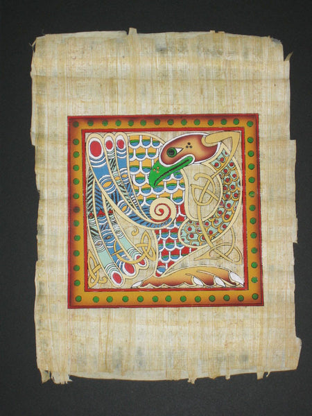 Wwc 8a Mounted Hand Painted Celtic Papyrus