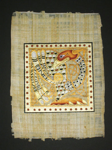 WWC 8B - Mounted Hand Painted Celtic Papyrus