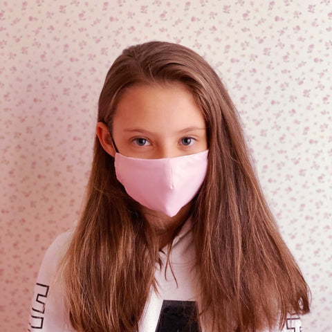 2-LAYERED FACE MASK Baby Pink XXS - FACE MASK