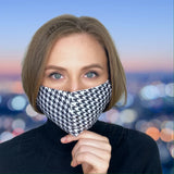 FACE MASK Black & White Houndstooth - FACE MASK