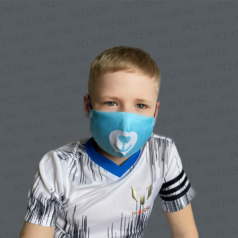 2-LAYERED FACE MASK Blue Bear XXS - FACE MASK