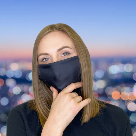 FACE MASK Classic Black - MULTI-PURPOSE MASK WITH F9 ePm1 FILTER