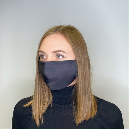 2-LAYERED FACE MASK Classic Black - FACEWEAR