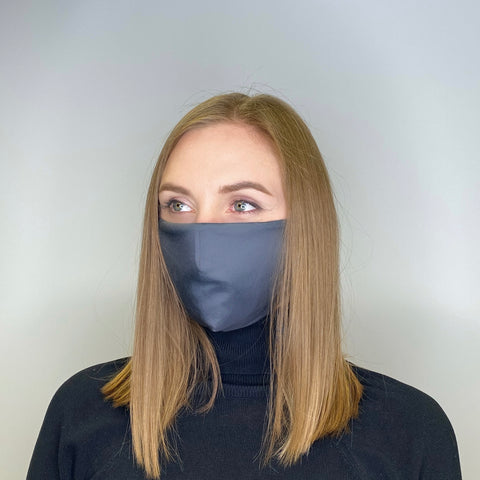2-LAYERED FACE MASK Dunkelgrau - MULTI-PURPOSE MASK