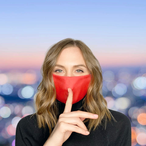 FACE MASK Coral Red - MULTI-PURPOSE MASK