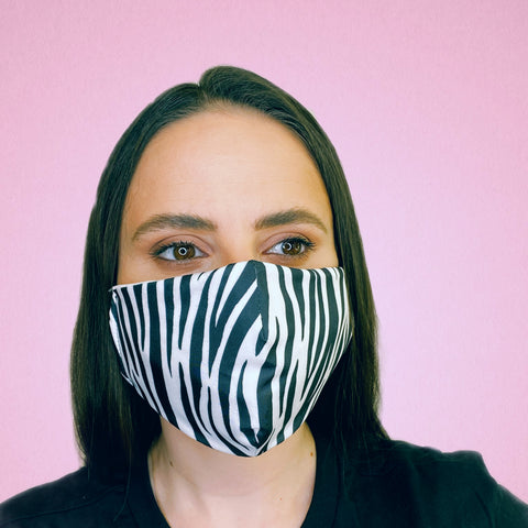 FACE MASK Black Zebra - FACEWEAR