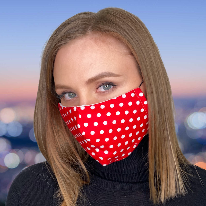 FACE MASK Red Polka Dot - FACEWEAR