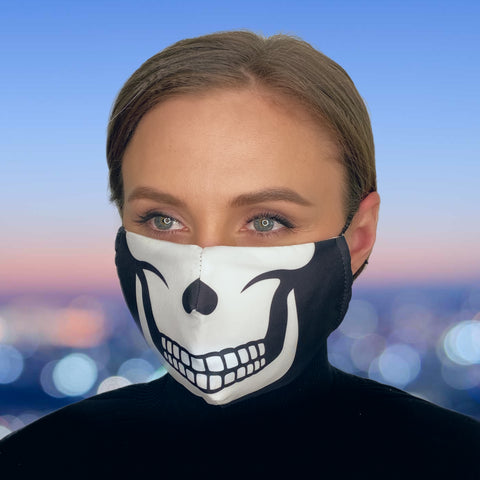 FACE MASK Skull - MULTI-PURPOSE MASK WITH F9 ePm1 FILTER