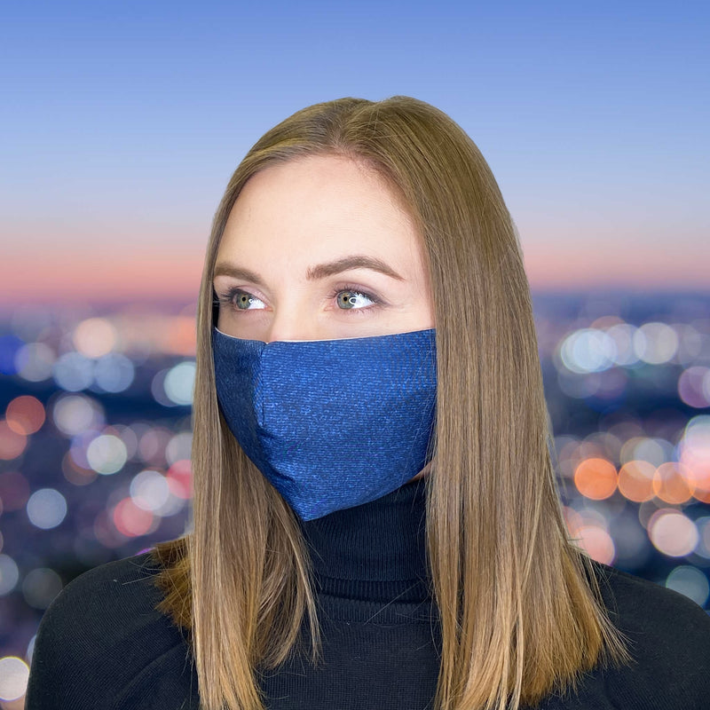 FACE MASK Denim Blue - FACEWEAR