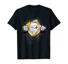 Ladda upp bild till gallerivisning, Halloween Superhero Football Pittsburgh-Steeler Fan T-Shirt 231121