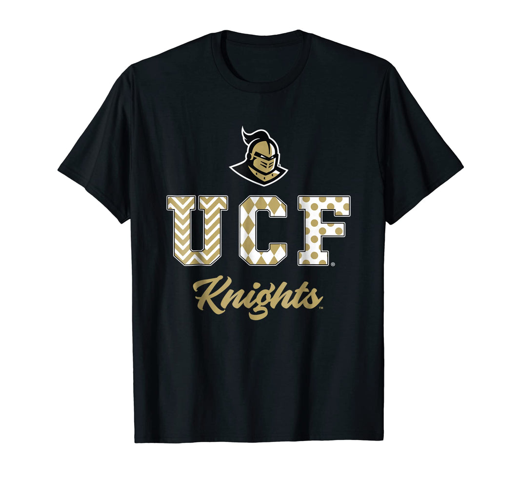 Ucf Knights Patterned Letters T-Shirt - Apparel