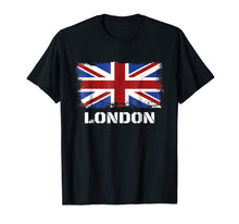 Ladda upp bild till gallerivisning, Souvenir London T-Shirt City Vintage Uk Flag British Tee