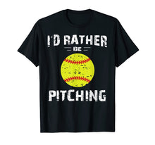 Ladda upp bild till gallerivisning, Softball Shirts For Girls Pitcher, I'd Rather Be Pitching