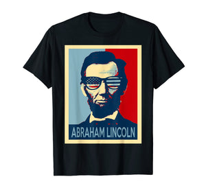 Funny shirts V-neck Tank top Hoodie sweatshirt usa uk au ca gifts for Abraham lincoln tshirt wearing US glasses 2302637
