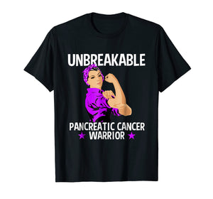 Pancreatic Cancer Awareness T Shirt Unbreakable Warrior Gift