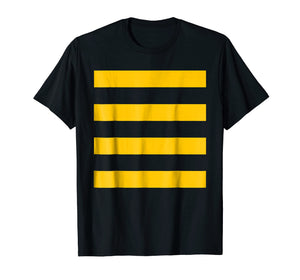 Bee Halloween Diy Costume Shirt - Yellow Stripes On Black
