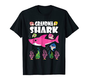 Funny shirts V-neck Tank top Hoodie sweatshirt usa uk au ca gifts for Cute Baby Sharks & Lovely Grandma Shark Funny Cool Tshirt 268488