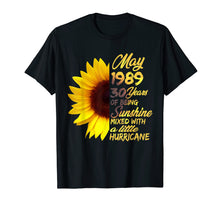Ladda upp bild till gallerivisning, Being Sunshine T-Shirt 30th Birthday Gifts May 1989
