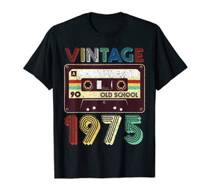 Funny shirts V-neck Tank top Hoodie sweatshirt usa uk au ca gifts for 44th Birthday Gift Vintage Classic Mixtape 1975 T-Shirt 1239233