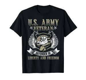 U.S. Army Veteran Defender Of Liberty 4th July Day T Shirt