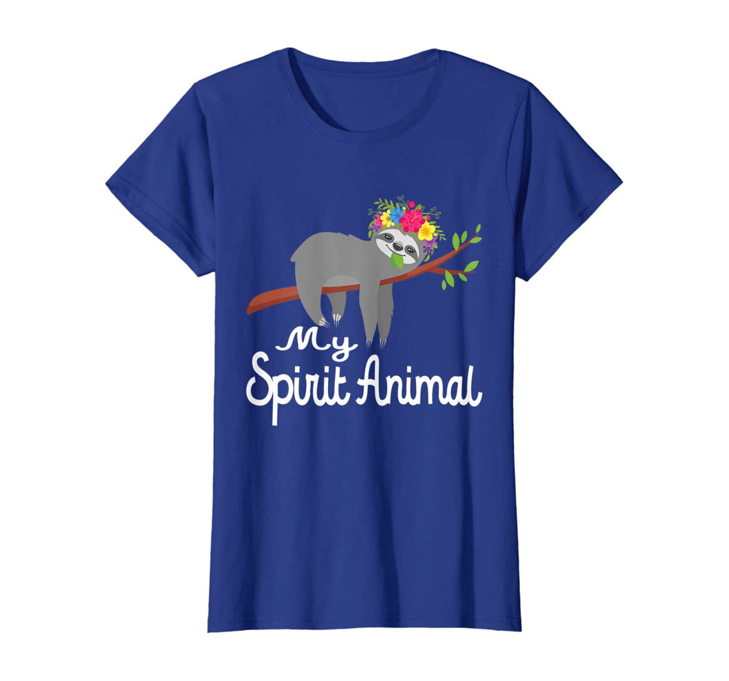 Sloth Shirt Men Women Kids My Spirit Animal is A Sloth Funny T-Shirt