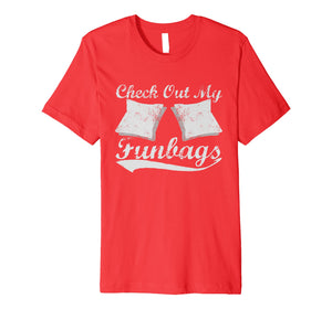 Check Out My Funbags Funny Cornhole T-Shirt
