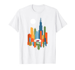 Funny shirts V-neck Tank top Hoodie sweatshirt usa uk au ca gifts for Chicago Illinois Skyline Color Modern Souvenir Gift T-Shirt 2258986