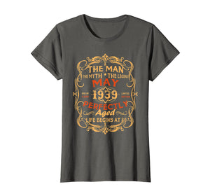 The Man Myth Legend May 1939 80th Birthday Vintage T-Shirt