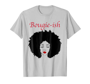 Bougie-Ish Afro Girl Red Lip Bougie Chick