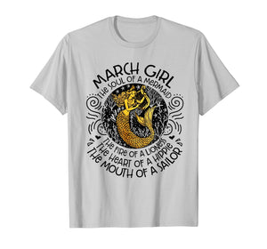 The Fire Of A Lioness March Girl Shirt