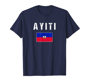 Ayiti T-Shirt Haitian Flag Haiti - For Men/Women/Youth/Kids